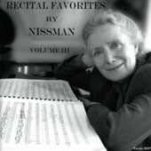 Recital Favorites by Nissman, Vol. 3 / Barbara Nissman