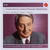 Charles Munch Conducts Romantic Masterworks - works by Mendelssohn, Brahms, Schubert, Schumann / Heifetz, Rubinstein et al. [8 CDs]