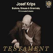 Brahms, Strauss, Stravinsky / Krips, Philharmonia Orchestra