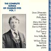 The Complete Songs of Charles Ives Vol 1