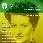 Singers to Remember - Nancy Evans - The Comely Mezzo