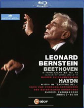 Bernstein conducts Beethoven: String Quartet no 16 (vers. for string orch.); Haydn: Missa in tempore belli / Blegen, Fassbaender, Ahnsjoe, Sotin, Vienna PO [Blu-Ray]