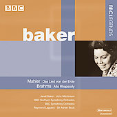 Mahler: Das Lied von der Erde;  Brahms: Alto Rhapsody / Baker, Leppard, Boult, et al