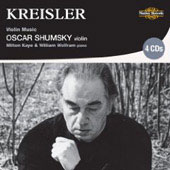 Kreisler: Violin Music / Oscar Schumsky, Milton Kaye, William Wolfram