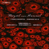 Mozart Arranged by Hummel: Seven Piano Concertos; Symphony No. 40 / Furniko Shiraga, piano, Henrik Wiese, flute, Peter Clemente, violin, Tibor Benyi, cello [4 CDs]