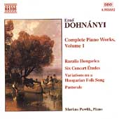Dohn&aacute;nyi: Complete Piano Works Vol 1 / Markus Pawlik