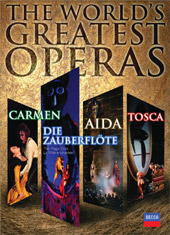 The World's Greatest Operas / Carmen, Aida, Tosca, Magic Flute [6 DVD]