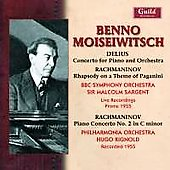 Benno Moiseiwitsch plays Delius and Rachmaninov