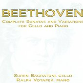 Beethoven: Complete Sonatas and Variations for Cello and Piano / Bagratuni, Votapek