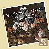 Haydn: Symphonies 31, 59 & 73