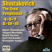 Shostakovich: The Great Symphonies, nos 4, 5, 7, 8, 10 & 15; Violin Concerto no 2 / David Oistrakh, violin