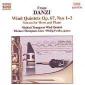 Danzi: Wind Quintets Op 67 no 1-3, etc / Thompson, et al