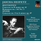 Beethoven, Spohr: Violin Concertos, etc / Heifetz, et al