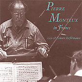 Pierre Monteux in France 1952-58 Concert Performances