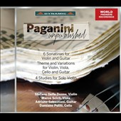 Paganini Unpublished: Sonatinas (6) for violin & Guitar; 4 Studies for Solo Violin et al. / Stefano Delle Donne, violin; Adriano Sebastiani, guitar