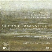 Musique Romantique: Works for violin, viola & 2 cellos by Anton Arensky, Ernest Sauter, Tchaikovsky / Kathrin, Leonie, Borge & Malte ten Hagen