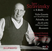 Stravinsky: Violin Concerto; Pulcinnela; Jeu De Cartes; Movements / David Oistrakh, violin; Margrit Weber, piano;