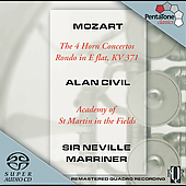 Mozart: 4 Horn Concertos / Alan Civil, Neville Marriner