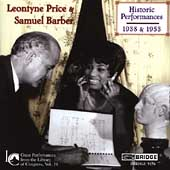 Library of Congress Vol 19 - Barber / Leontyne Price