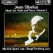 Sibelius: Music for Violin & Piano Vol 2 / Sparf, Forsberg