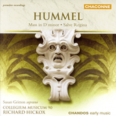 Hummel: Mass in D minor, etc / Hickox, Gritton, et al