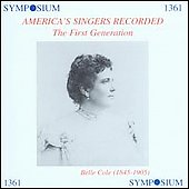 America's Singers Recorded - The First Generation