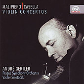 Archiv - Malipiero, Casella: Violin Concertos / Gertler
