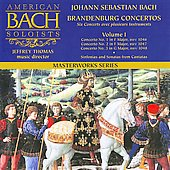 Bach: Brandenburg Concertos, Vol 1