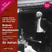 Brahms: Symphony No. 4; Mendelssohn: Symphony No. 4 / Sir Adrian Boult (1975)