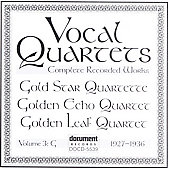 Various Artists: Vocal Quartets, Vol. 3: G