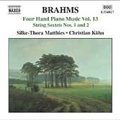 Brahms: Four Hand Piano Music Vol 13 / Matthies, Köhn