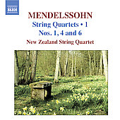Mendelssohn: String Quartets, Vol 1 / New Zealand Quaratet