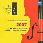 Schubert: String Quartet no 14;  Bartok: String Quartet no 1 / American String Project