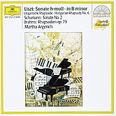 Liszt: Sonata in b;  Schumann: Sonata 2;  Brahms / Argerich