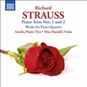 Richard Strauss: Piano Trios Nos. 1 & 2; Works for Piano Quartet / Max Mandel, piano