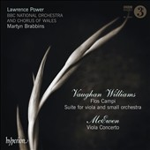 Vaughan Williams: Flos Campi; Suite for viola; McEwen: Viola Concerto / Lawrence Power, viola