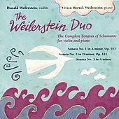 Weilerstein Duo - Sonatas of Schumann for Violin & Piano