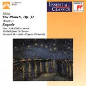 Holst: The Planets;  Walton: Fa&ccedil;ade / Bernstein, Ormandy