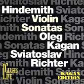Kagan Edition Vol 10 - Hindemith: Violin Sonatas / Richter