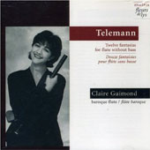Telemann: 12 Fantasias for Transverse Flute / Claire Guimond
