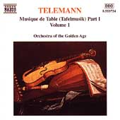 Telemann: Musique de Table Part 1 Vol 1 / Golden Age