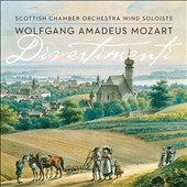Wolfgang Amadeus Mozart: Divertimenti - Sextets for clarinets, horns & bassoons; Serenade in E flat major / Scottish CO Winds
