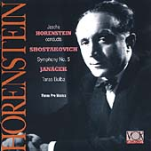 Shostakovich: Symphony no 5;  Janacek / Horenstein, Vienna