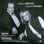 Brahms & Schumann: Music for Two Pianos / Helene Mercier, Cyprien Katsaris