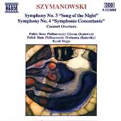Szymanowski: Symphonies no 3 and 4 / Stryja, Polish State PO