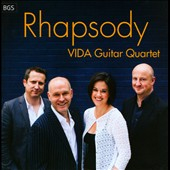 Rhapsody - Gershwin arr. Stell: Rhapsody in Blue; Arnold arr. Ashford: English Dances Set II; Gorb arr. Eden: Yiddish Dances / Vida Guitar Quartet