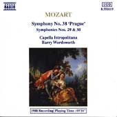 Mozart: Symphonies nos 38, 29, & 30 / Barry Wordsworth