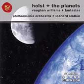 Holst: The Planets;  Vaughan Williams: Fantasias / Slatkin