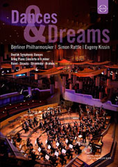 Dances & Dreams - Dvorak: Slavonic Dances 1, 2, 7; Grieg: Piano Concerto; Stravinsky: Firebird suite et al. / Rattle, Berlin PO [DVD]