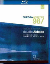 Europakonzert 1998 from Stockholm: Wagner: Dutchman Overture; Tchaikovsky: The Tempest; Debussy: Trois Nocturnes, Verdi: Four Sacred Pieces / Berlin PO, Abbado [Blu-Ray]